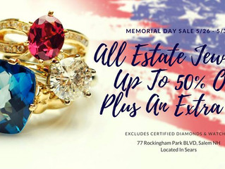 Up to 50% off w/ an Extra 10% off on all Estate Jewelry!!