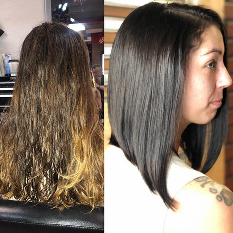 Before & After Hair Design by Paige Higg