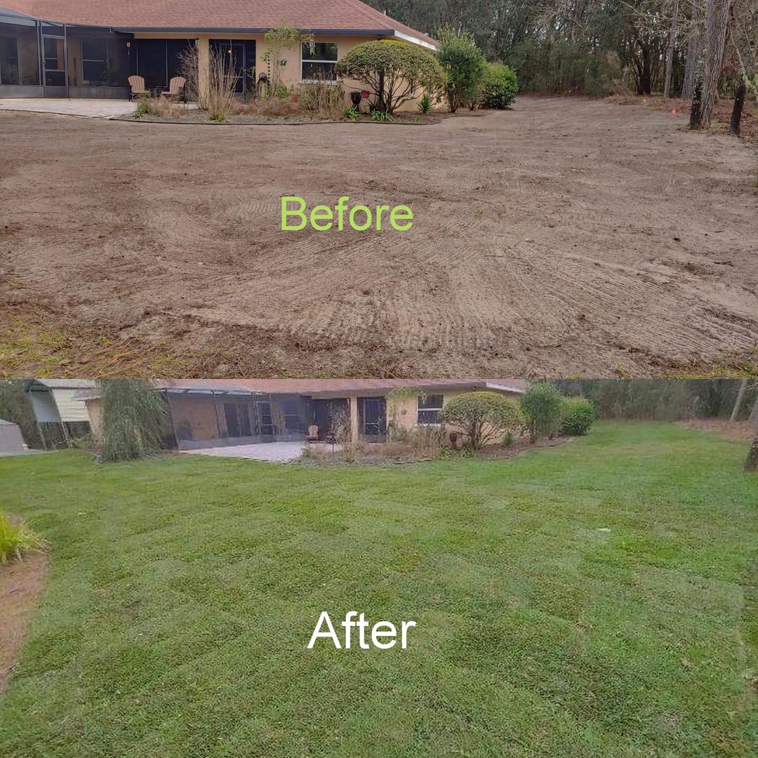 Saint Augustine full yard renovation