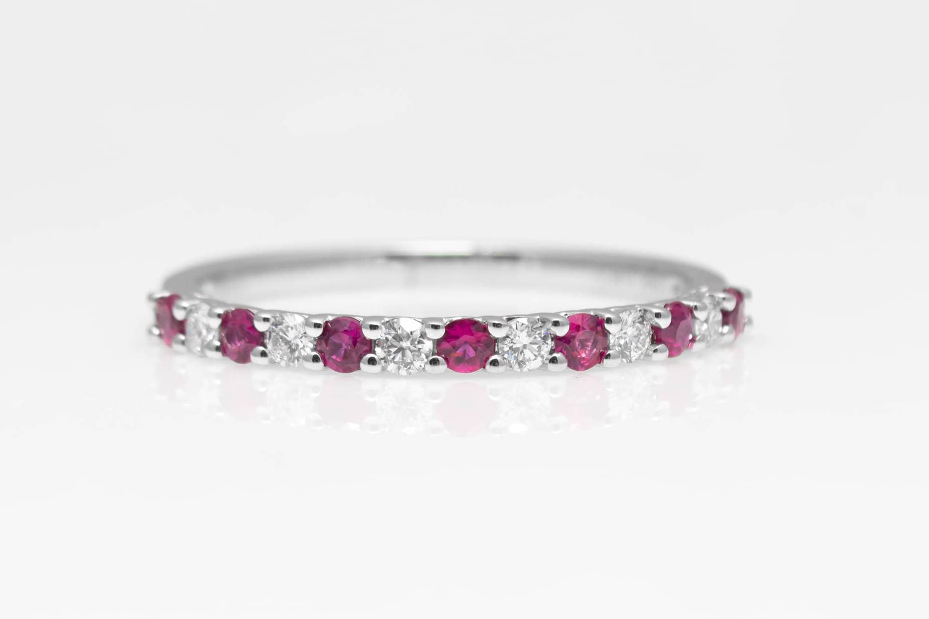 atwood jewelers ruby and diamond band