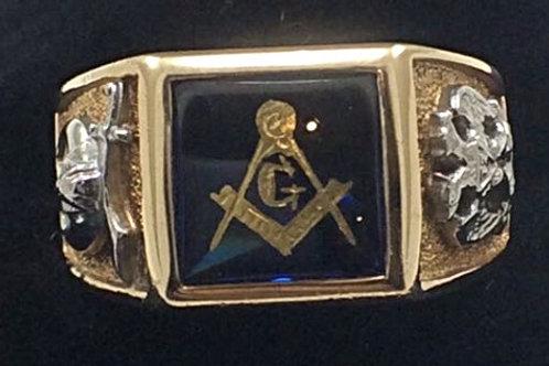 14k Yellow Gold Masonic Ring
