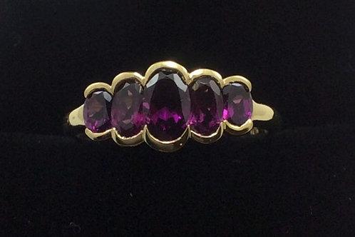 10k Yellow Gold Amethyst Ring