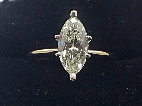 14k Yellow Gold 1CT Marquise Ring
