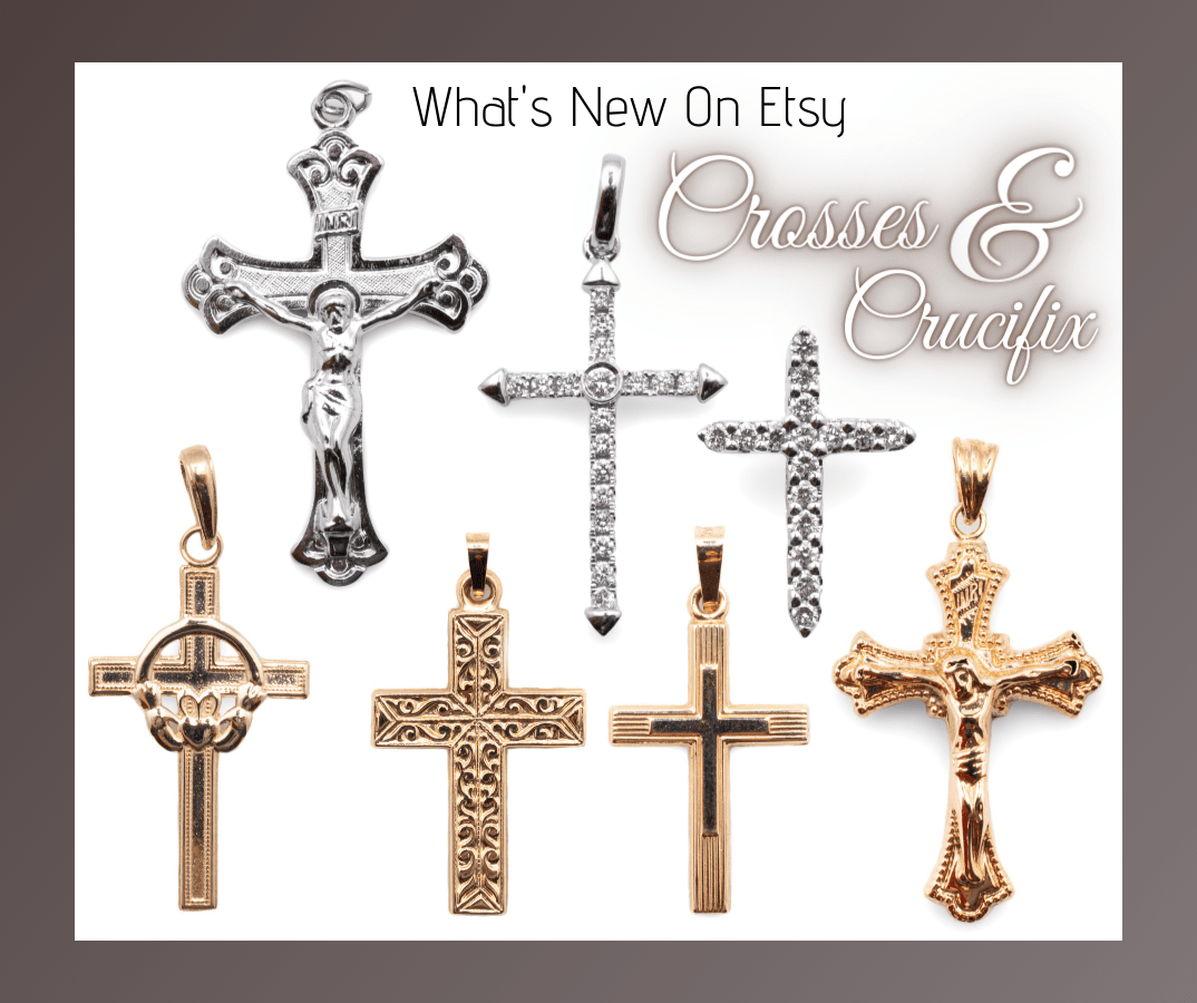 Crosses and Crucifixes in silver and gol