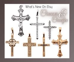 atwood jewelers Crosses and Crucifixes in silver and gol