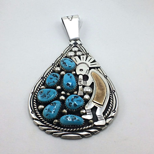Sterling Silver Turquoise Tommy Moore Pendant
