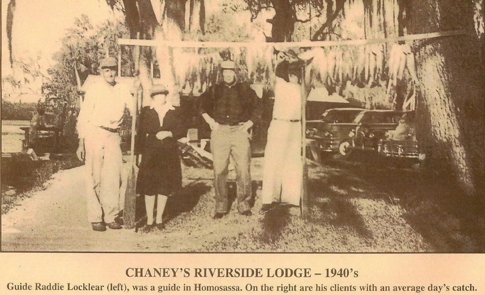 Homosassa backcountry fishing 1940's Raddie Locklear guide