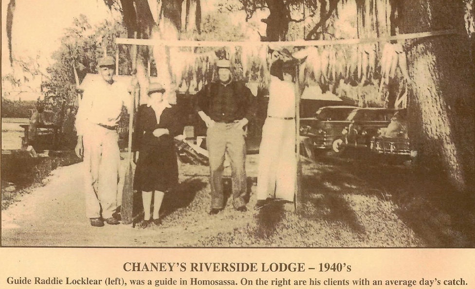 Homosassa backcountry fishing 1940's Raddie Locklear guide