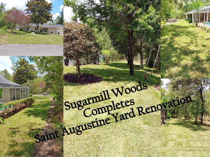 Sugarmill Woods- Saint Augustine yard