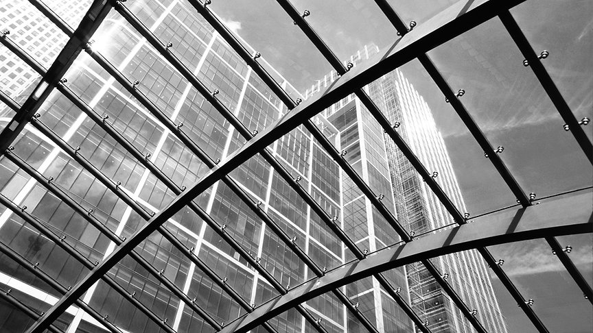 Photo of a glass ceiling in a building