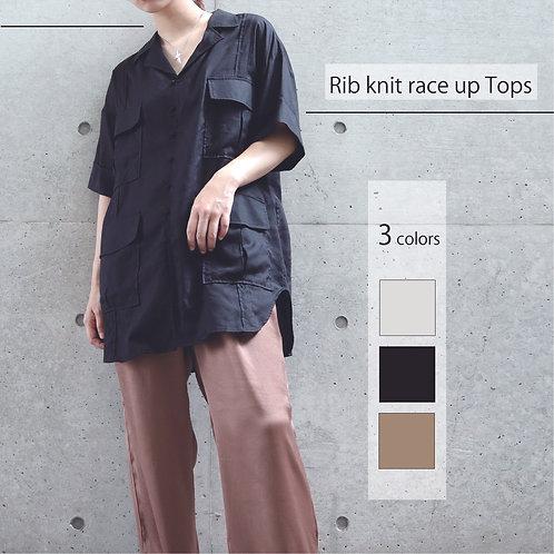 【Я dèvushka】開襟テンセルシャツ