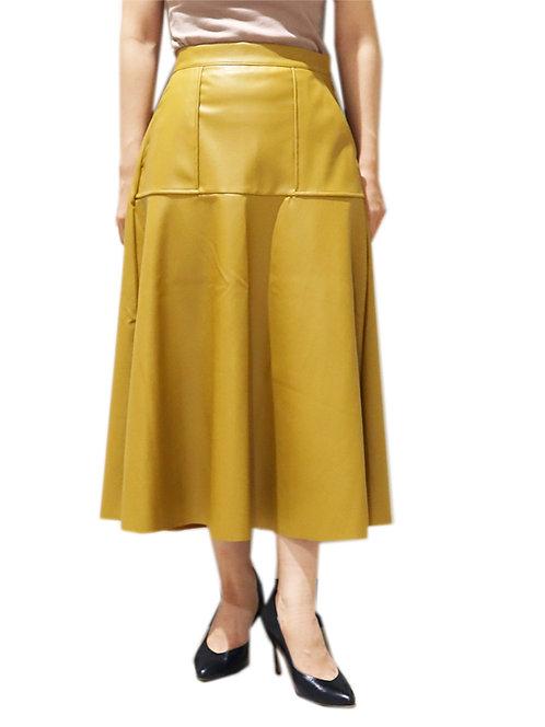 7901502_フェイクレザースカート