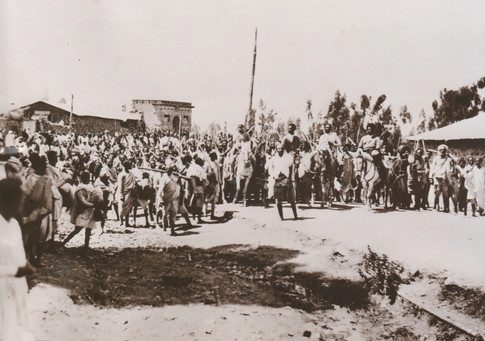 Ethiopian troops rallying to defend the country, October 30, 1935. Courtesy Martin Plaut