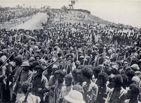 Patriots escort Emperor Haile Selassie as Debra Markos is retaken in 1941