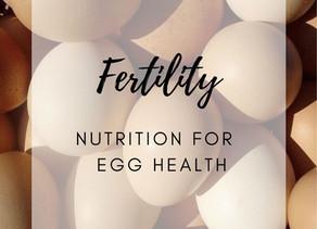 FERTILITY: NUTRITION FOR HEALTHY EGGS