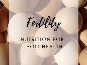 FERTILITY: NUTRITION FOR HEALTHY EGGS