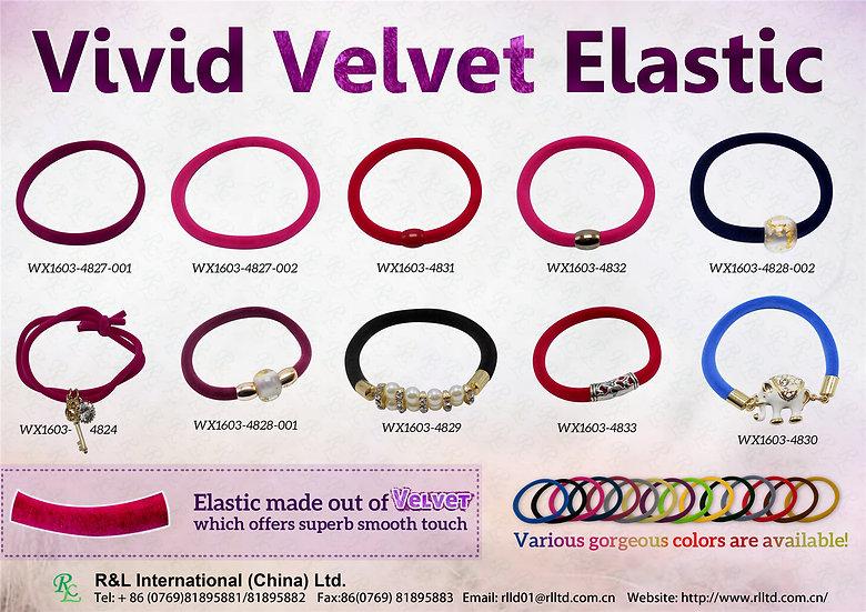 Vivid Velvet Elastic