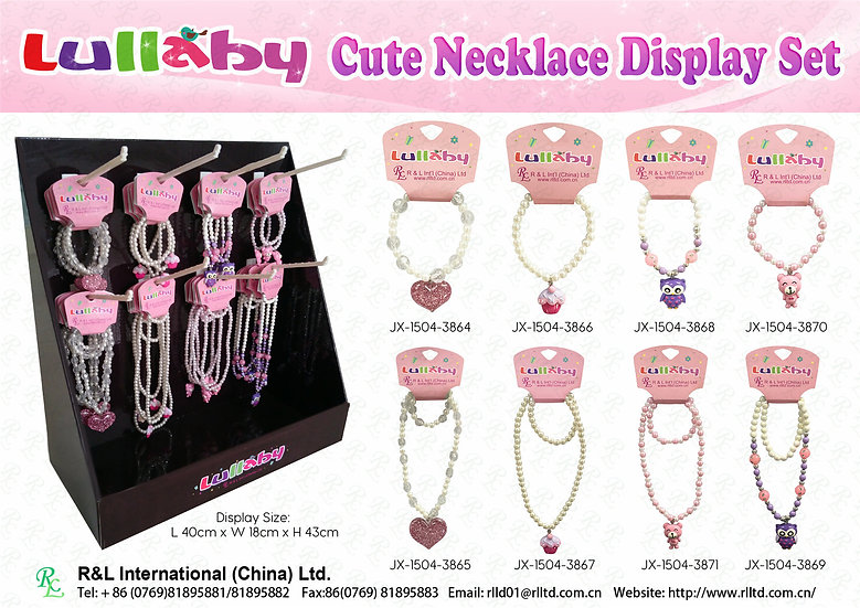 (Easter)Lullaby Cute Necklace Display Set