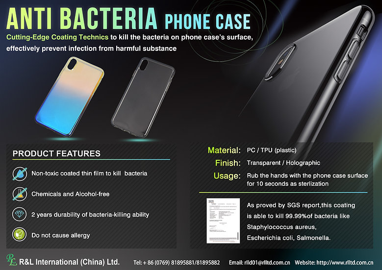 Anti Bacteria phone case