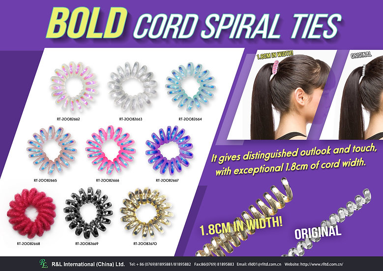 BOLD Cord Spiral Ties