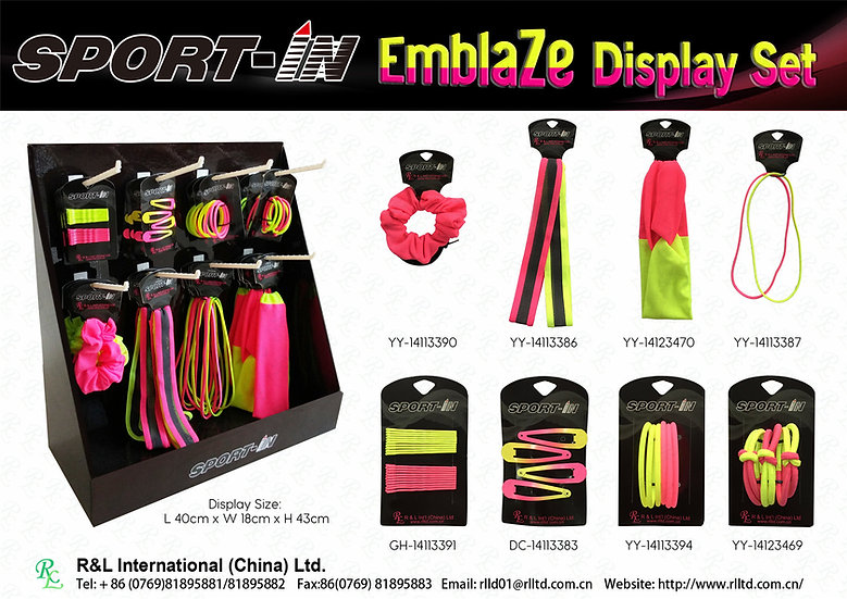 Sport-in Emblaze Display Set
