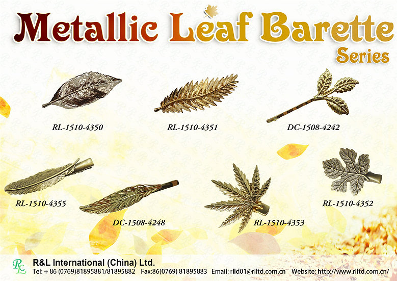 Metallic Leaf Barette series