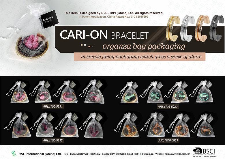 CARI-ON BRACELET-organza bag packaging