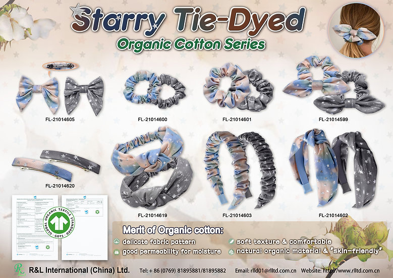 Starry Tie-Dyed Organic Cotton Series