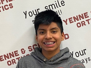 Juan Got his braces on and look at that smile...