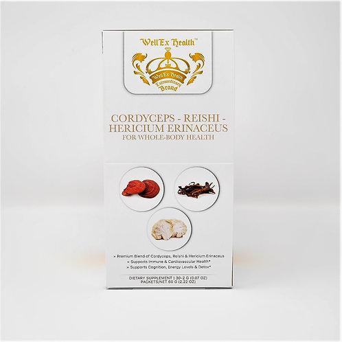 Wellex Premium Blend of Cordyceps - Reishi - Hericium Erinaceus (PACKETS)