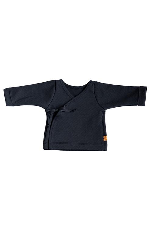 Black Striped Newborn Kimono - Hope