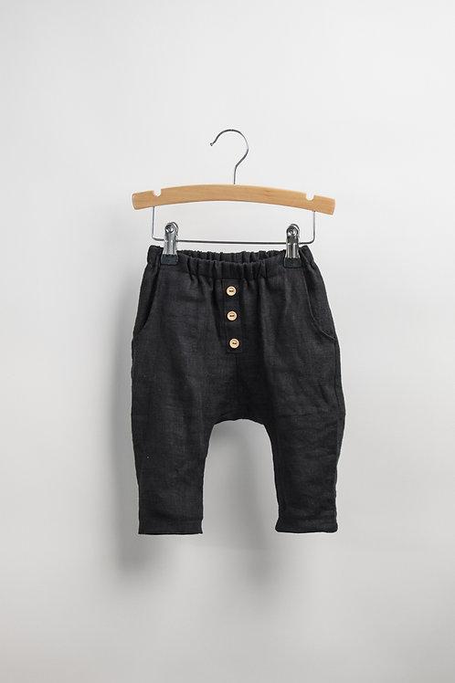 Black Linen Trouser - Grace