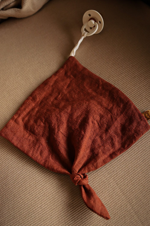 Speendoekje - Red Earth Linen