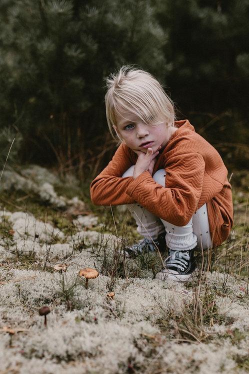 Rust Chevron Sweater - Finn