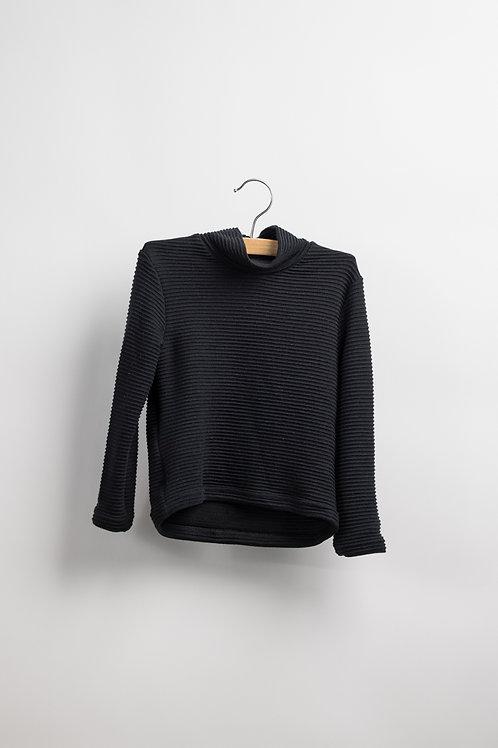 Black Col Sweater - Justice