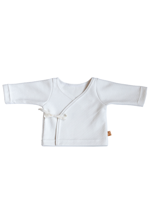 White Striped Newborn Kimono - Hope