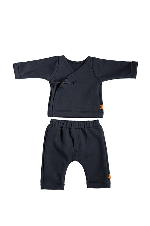 Black Striped Newborn Combo Set