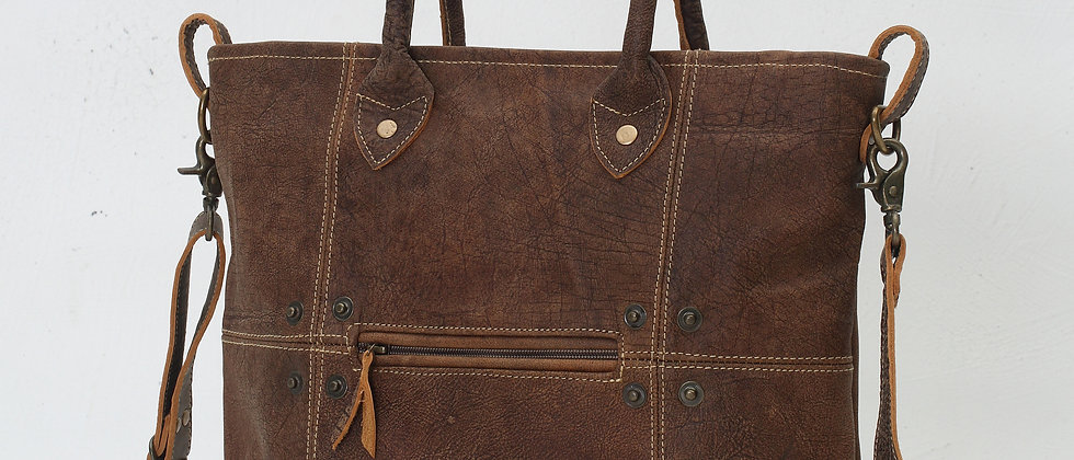 Buttons & Stitches Leather Bag