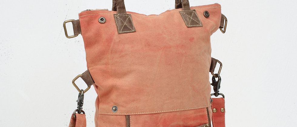 Fold Over Canvas Tote Bag