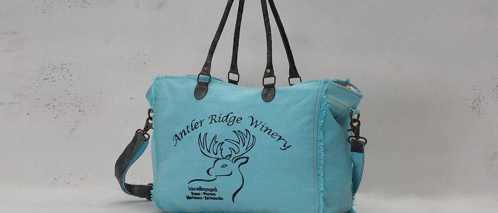 Turquoise Reindeer Weekender Bag