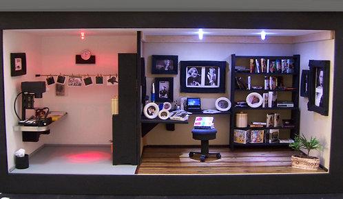 Roombox Miniatura LABORATÓRIO DE FOTOGRAFIA