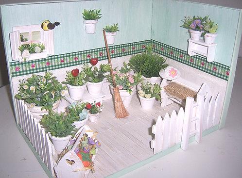 Roombox Miniatura JARDIM 3