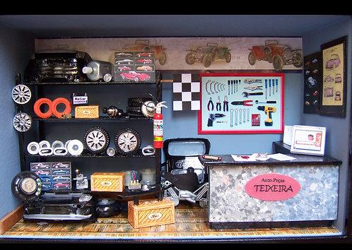 Roombox Miniatura LOJA AUTO-PEÇAS