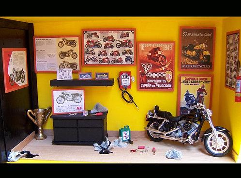 Roombox Miniatura OFICINA MOTO 1