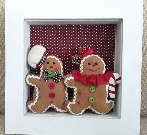 Quadrinho Natal Casal Gingerbread