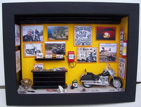Quadro Miniatura OFICINA MOTO4