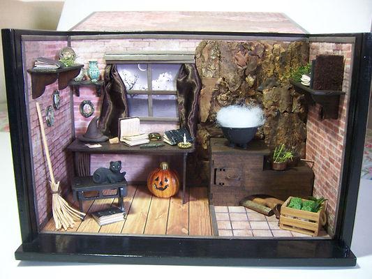 Roombox Cenátio temático Bruxa