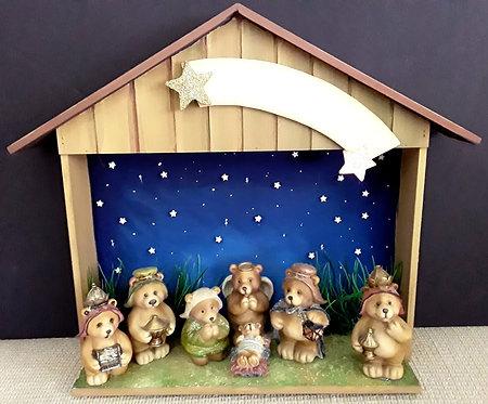 Presépio de Natal com Ursinhos
