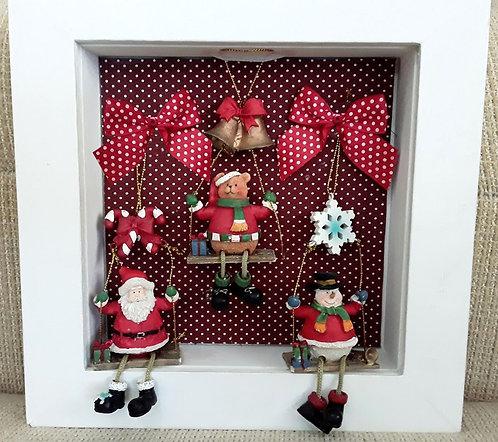 Quadrinho Natal Trio Bonequinhos
