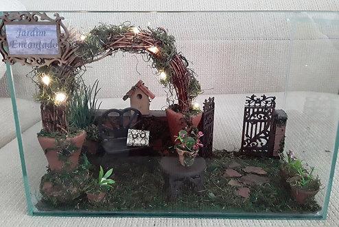 Roombox Vidro Miniatura JARDIM ENCANTADO